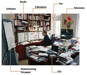 Al Gore at his desk