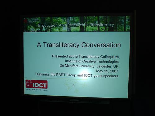 Translit Colloquium 001